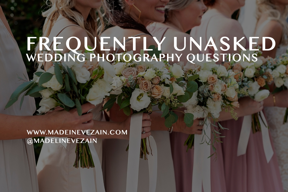 Frequently UNasked Wedding Photography Questions