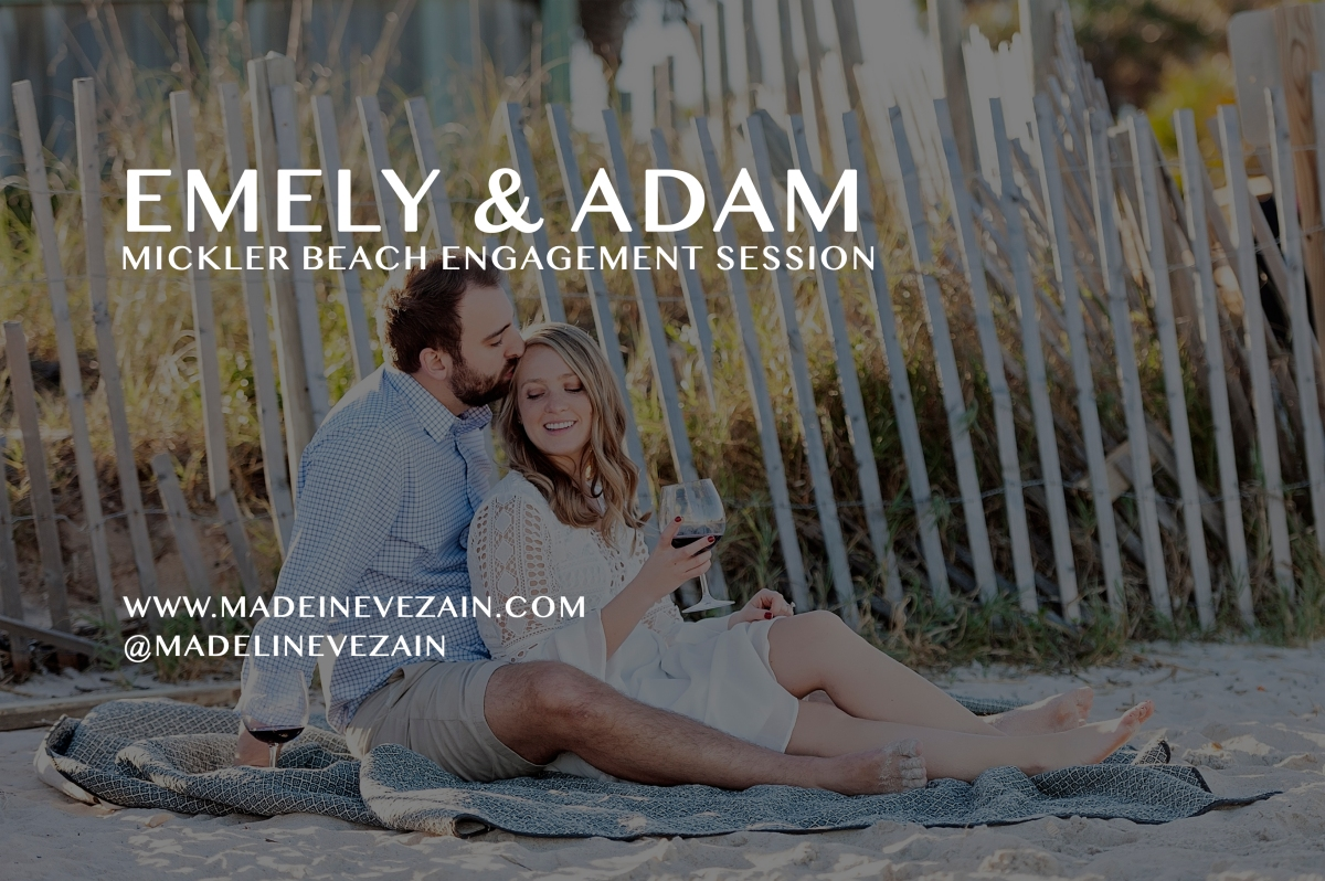 Cozy Wine Down Engagement Session at Mickler Beach, Ponte Vedra Beach, FL