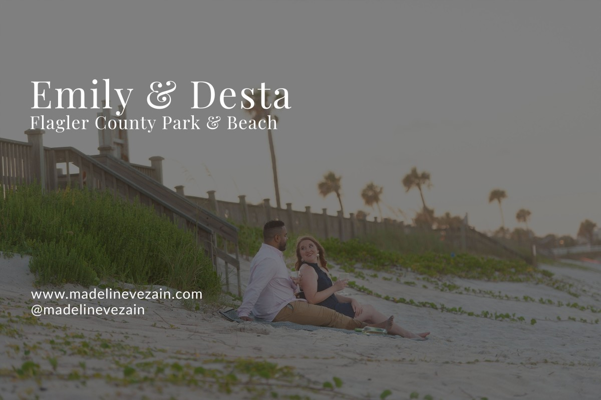 Emily & Desta | Engagement Session | Flagler County Park &Beach